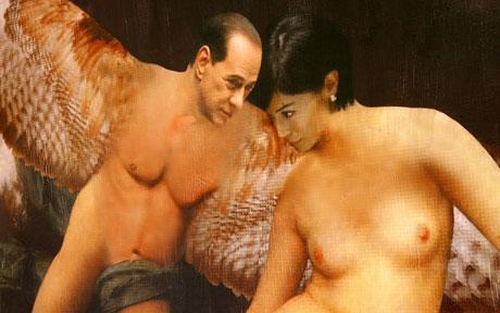 Bài Berlusconi bị vẽ khỏa thân bên người đẹp da hangthuy8.