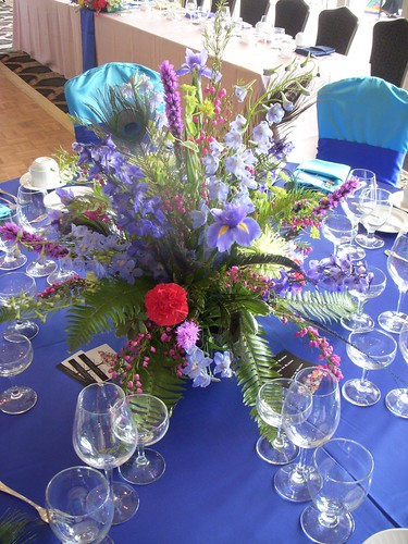 Peacock Centerpiece