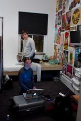 Cedric et Mathieu dans notre chambre, au Ace Hotel