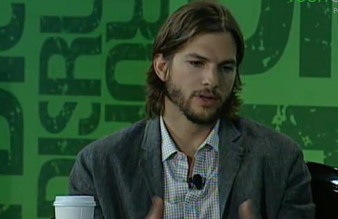 Ashton Kutcher Talks With Charlie Rose At TechCrunch Disrupt by zennie62