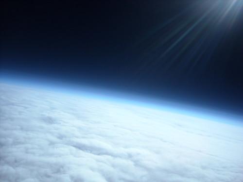 La Tierra vista desde la estratosfera.