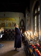 Prayers in the Catholic shrine