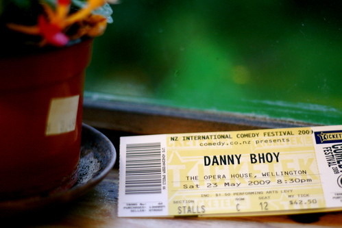 Saturday: Tickets to Danny Bhoy (3rd Row!)