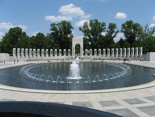One half of the World War II Memorial
