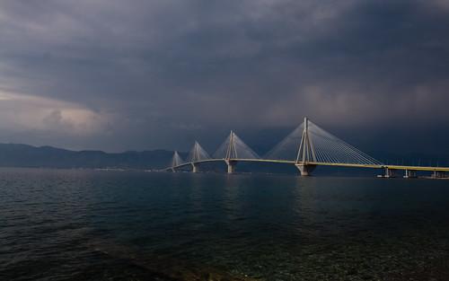Puente Rio-Antirio, construido para las olimpiadas de Atenas 2004