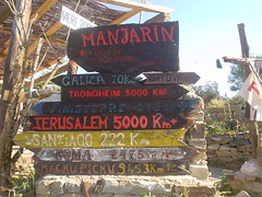 Letreros en Manjarín