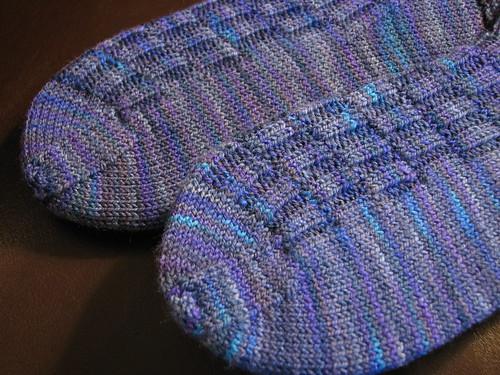 Gentleman's Fancy Socks: toe detail