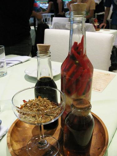 Condiments at Amano