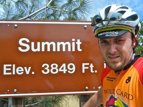 Rob at summit of Mt. Diablo