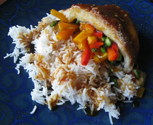 teriyaki stuffed fish...