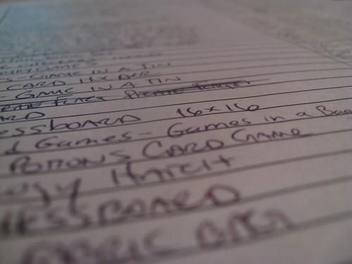 Handwritten Inventory