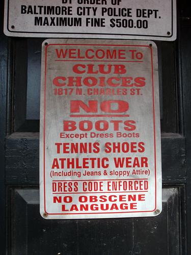 Club Choices by Flickr user Daquella manera
