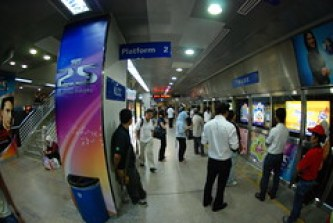 A Kuala Lumpur subway station