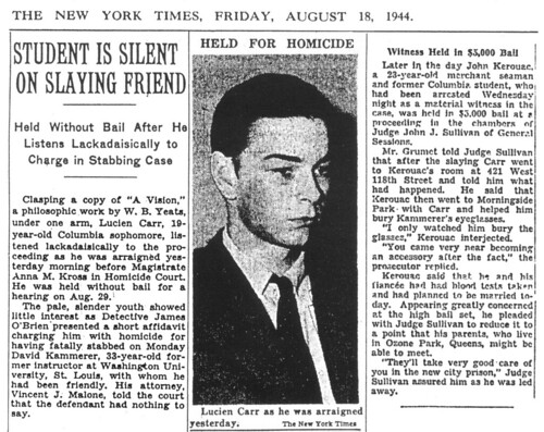 The Kammerer-Carr-Kerouac Case - August 1944