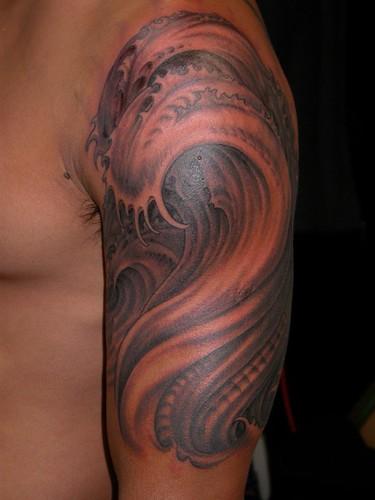 black and gray tattoo by Matthew Amey