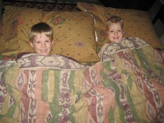 The Boys on the Couch Bed