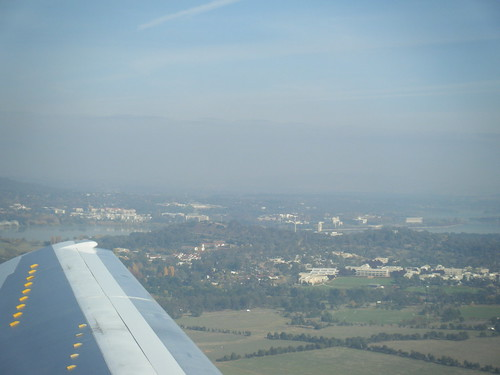Taking off from Canberra