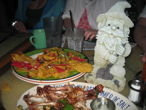 Enjoying Pub Food With Friends
