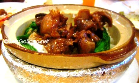 Chicken with Black Mushroom Rice