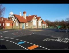School Playground - Wirral, England