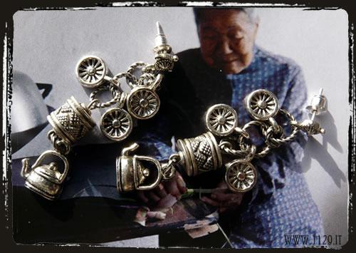 Orecchini argento tibetano - Tibetan silver earrings IBMETETI