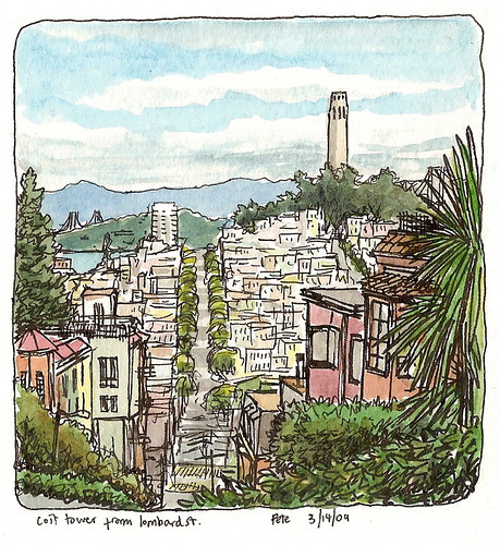 the view from lombard street
