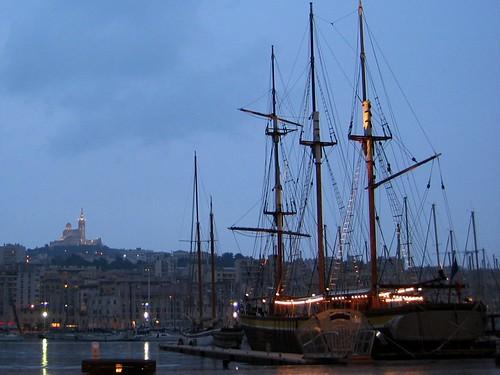 Vieux Port at night.