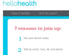 Hello Health Web Site