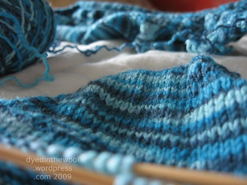 gusset heel sock 7 (by dyedinthewool)
