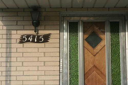 Number plate, storm door, front door