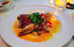 Seared Squid Stuffed with Chorizo