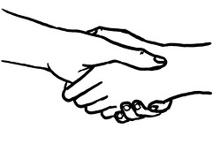 Handshake greeting agreement peace