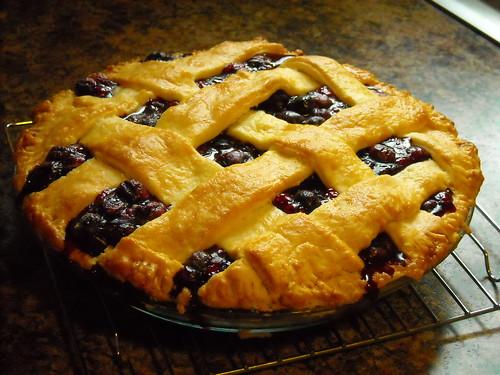 Lattice Top Blueberry Pie