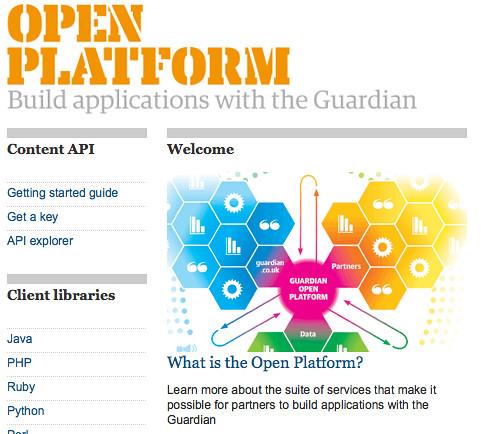 The Guardian Open Platform   guardian.co.uk
