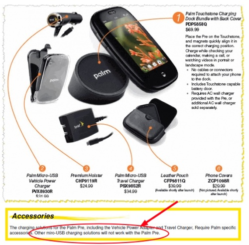 sprint claims palm pre will have proprietary micro usb connection