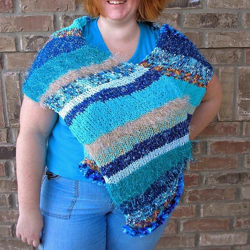 Doo-Da-Dah shawl in blue (4)
