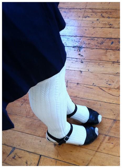 Details: skirt, shoes, socks