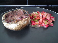 Pâté Stuffed Mushroom with Salsa