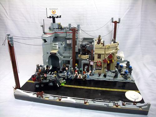 LEGO zombie diorama