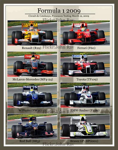 F1-Autos 2009 im Überblick
