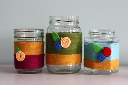 Colorful Yarn Votive Tutorial