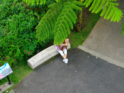 Mom at the Bottom of Yokahu Tower