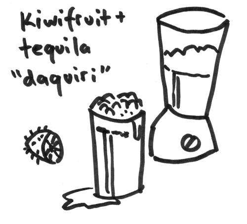 "Kiwifruit and tequila ""daquiri"""