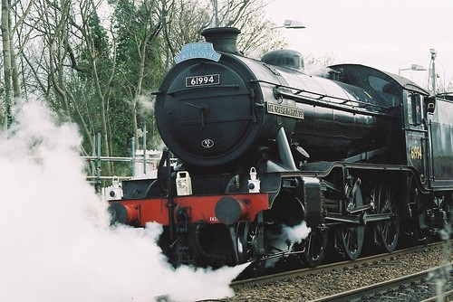 Gresley K4 No 61994 The Great Marquess leaving Dalmeny Station