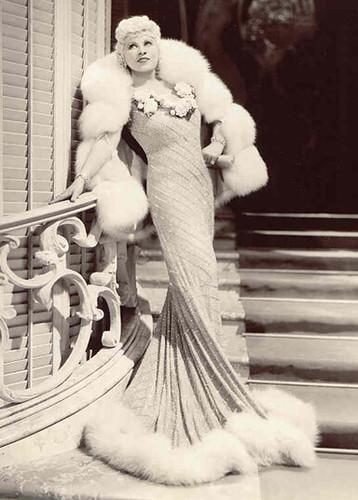 Mae West in White Fox