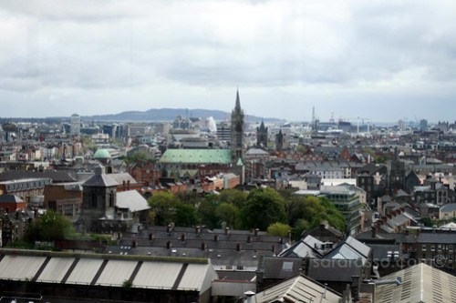 A view of Dublin from the Guinness Storehouse 360 Bar, Dublin, Ireland