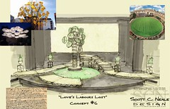 Scott Neales design concept for Loves Labours Lost (coming in 2009, directed by Paul Barnes)