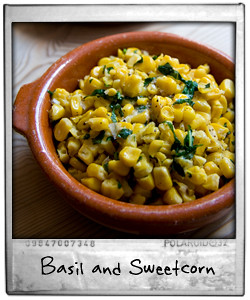Basil and Sweetcorn
