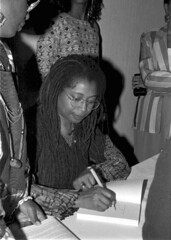 Alice Walker signing autographs at the Zora Ne...