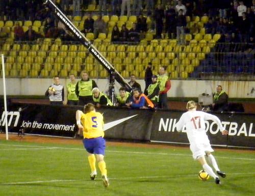 Kosovo-born, CSKA Moscow Player Milos Krasic Heads Towards the Net